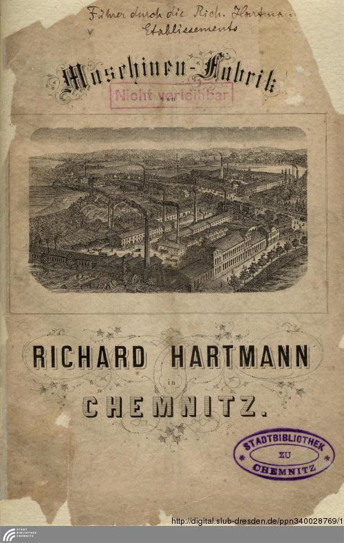 Vorschaubild von Maschinenfabrik von Richard Hartmann in Chemnitz