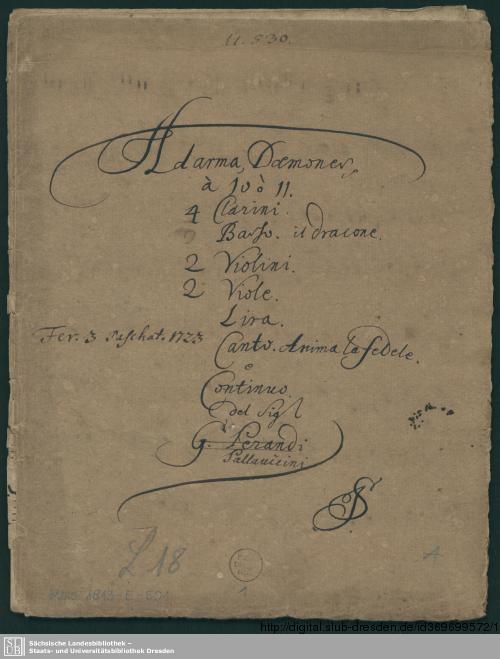Vorschaubild von Ad arma daemones vos omnes Erebi - Mus.1813-E-501