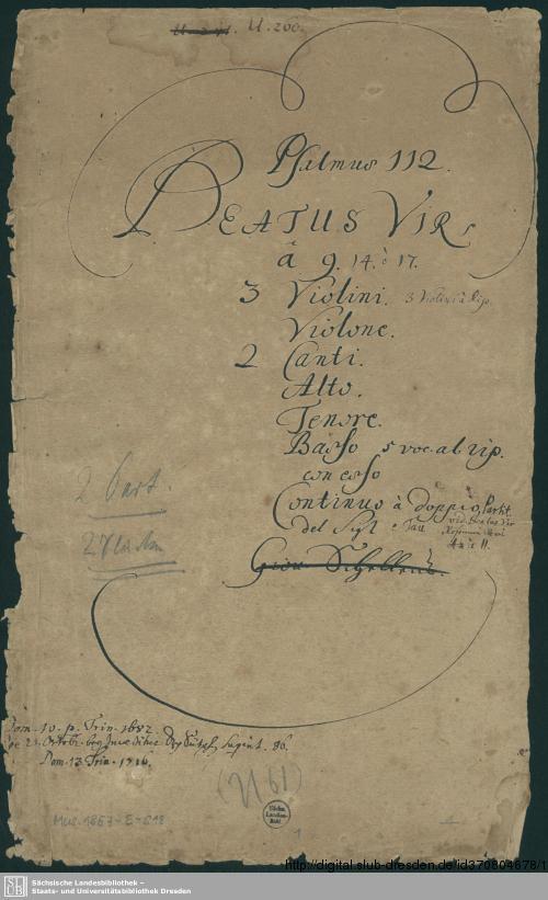 Vorschaubild von Beatus vir - Mus.1857-E-518