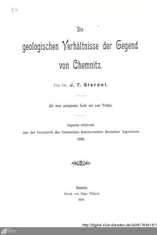Vorschaubild von Die geologischen Verhältnisse der Gegend von Chemnitz