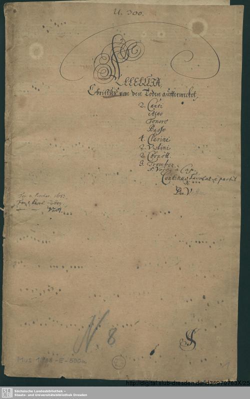 Vorschaubild von Alleluja Christus von den Toten auferwecket - Mus.1918-E-500 - Mus.1918-E-500a
